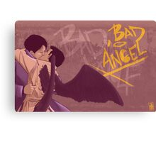 Bad, Bad Angel (Black Wings Version) Canvas Print
