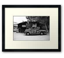 Route 66 Garage and Pickup Framed Print