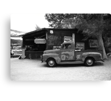Route 66 Garage and Pickup Canvas Print