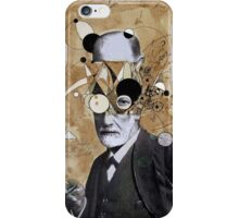 Freud with abstracted concepts iPhone Case/Skin