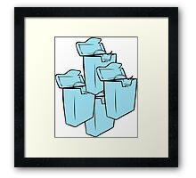 DENTAL FLOSS CONTAINERS  Framed Print