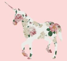 Floral Unicorn 2 One Piece - Short Sleeve