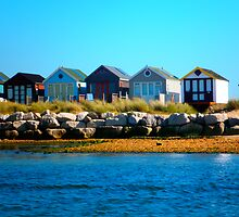 Beach Huts - 1 by LisaWildwood