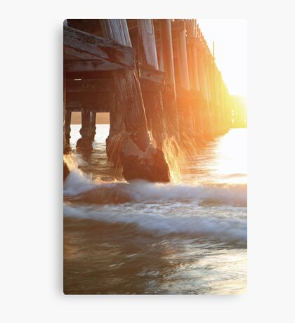Good morning jetty Canvas Print