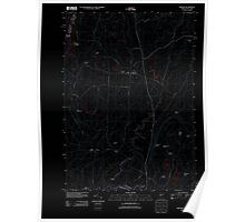 USGS Topo Map  Vermont VT Benson 20120209 TM Inverted Poster