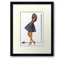 Little Black Dress Framed Print