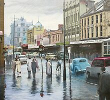 Rainy Day, Hobart, Tasmania (circa 1957) by Michael Bessell