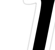 "Calligraphy Letter ""j"" Sticker"