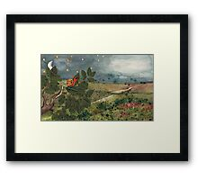 Snail in the Tree Poster Framed Print