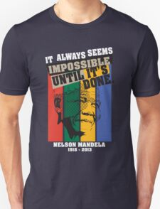 Nelson Mandela Tribute Shirt 2 (For Dark Shirt) T-Shirt
