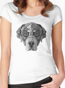Ornate Rottweiler Women's Fitted Scoop T-Shirt