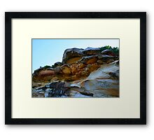 Bare Island Rock Formations #2 Framed Print