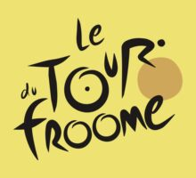Le Tour du Froome (Black) Kids Tee