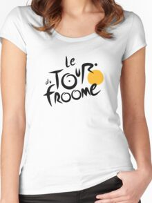 Le Tour du Froome (Black) Women's Fitted Scoop T-Shirt
