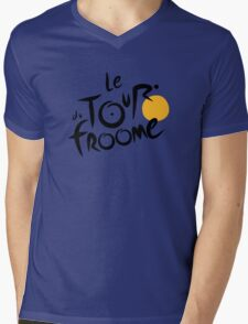 Le Tour du Froome (Black) Mens V-Neck T-Shirt