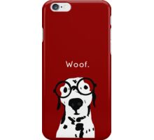Snip the Dalmatian in Burgundy iPhone Case/Skin