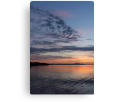 Toronto Skyline in Pastel Blue, Pink, Yellow, Orange and Purple Canvas Print