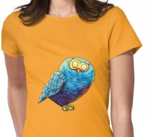 Mr. Blue Owl Womens Fitted T-Shirt