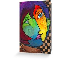 Picasso Portrait Greeting Card