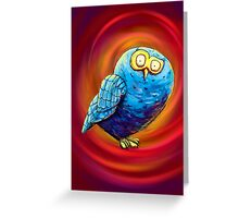 Mr. Blue Owl Greeting Card