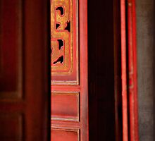 Doors to Shrine to Confucius #02 - Hanoi Vietnam by Malcolm Heberle