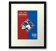 All Star Baseball Tournament Retro Poster Framed Print