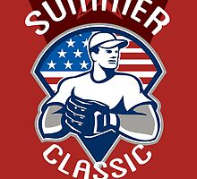 Baseball All Star Summer Classic Poster by patrimonio