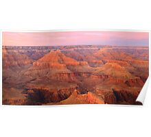 Pink Pastel Sky over the Grand Canyon Poster
