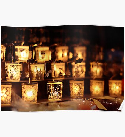 Warm candles Poster