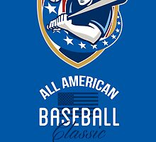 All American Baseball Classic Retro Poster by patrimonio