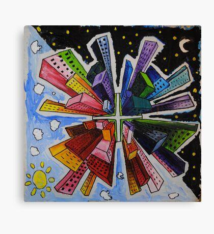 Small World; Big City. Canvas Print