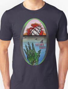 sailor's grave, shipwreck tattoo. T-Shirt