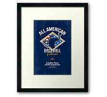 American Baseball Classic Retro Poster Framed Print