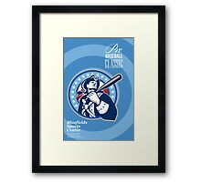 American Patriot Pro Baseball Classic Poster Retro Framed Print