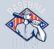 Pro Baseball League Retro Poster by patrimonio