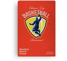 Veteran's Day Basketball Tournament Poster Canvas Print
