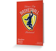 Veteran's Day Basketball Tournament Poster Greeting Card