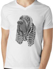 Ornate Bloodhound Mens V-Neck T-Shirt