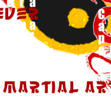 Forever Martial Artist - Dark Version Sticker