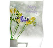 A jug of Freesia Poster
