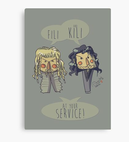 Fili and Kili Canvas Print