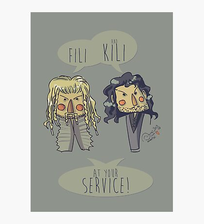 Fili and Kili Photographic Print