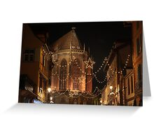 Christmas Lights, in Colmar, Alsace, France Greeting Card