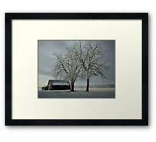 Snow On The Barn  Framed Print