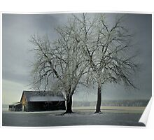 Snow On The Barn  Poster