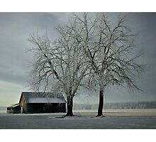Snow On The Barn  Photographic Print