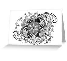 Turn black and white Greeting Card