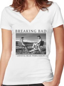 Breaking Bad - Crystal Blue Persuasion Women's Fitted V-Neck T-Shirt