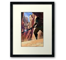 Legend of Zelda Death Mountain Framed Print