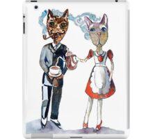 Retro Cats Having Tea iPad Case/Skin